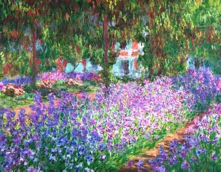Artists Garden of Irises Claude Monet