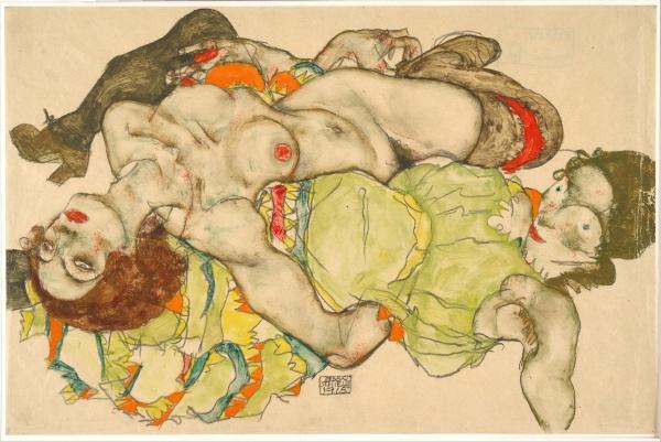 Egon_Schiele_-_Female_Lovers,_1915_-_Google_Art_Project